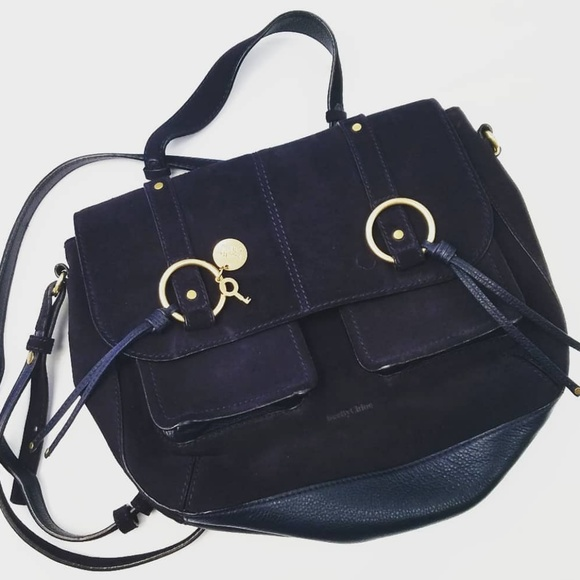 See By Chloe Handbags - SEE BY CHLOE navy suede  bag.